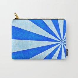 Blue sunburst Carry-All Pouch