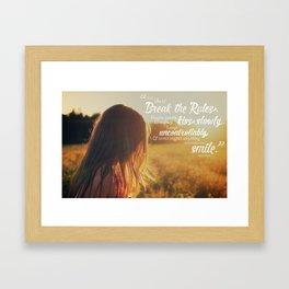 Life is Short Framed Art Print