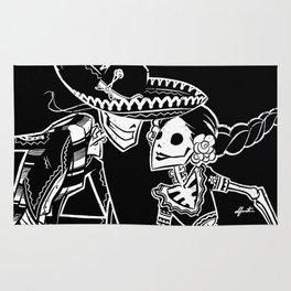 ZAPATEADO ON BLACK Rug