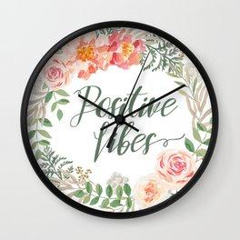 Woodland wreath Wall Clock