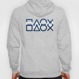 Playstation Controller Pattern - Navy Blue Hoody