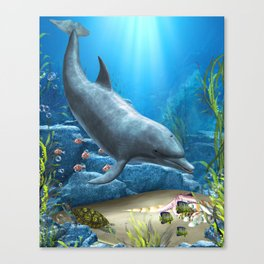 The World Of The Dolphin Canvas Print