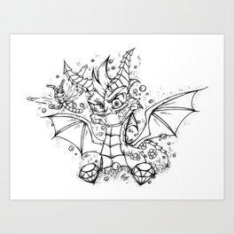 Spyro & Sparx - Ultimate Duo! Art Print