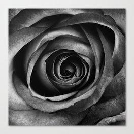 Black Rose Flower Floral Decorative Vintage Canvas Print
