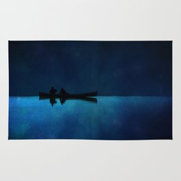 Canoe at Night Rug