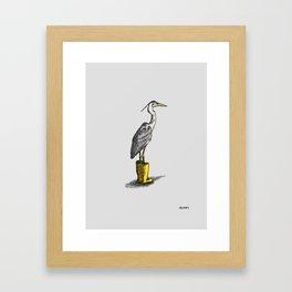Heron in Boots I Framed Art Print