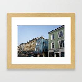 Buildings in Oslo Framed Art Print