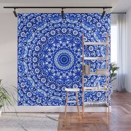 Blue Mandala Mehndi Style G403 Wall Mural