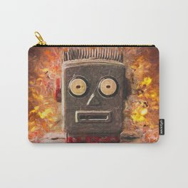 Robot on fire by Brian Vegas Carry-All Pouch