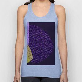 yellow Abstract pattern Unisex Tank Top