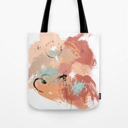 Unrestrained, Abstract Art Brushstrokes Tote Bag