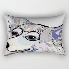 Corgi in Denim Colors Rectangular Pillow