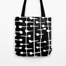 Lines And Dots Tote Bag
