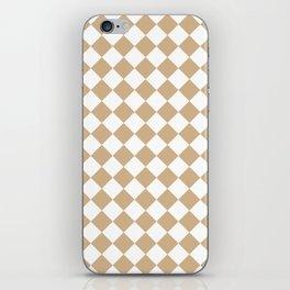 Diamonds - White and Tan Brown iPhone Skin