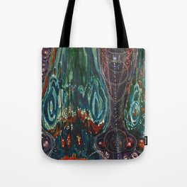 Pulse of Kelp (Sonic Sea Surge) Tote Bag