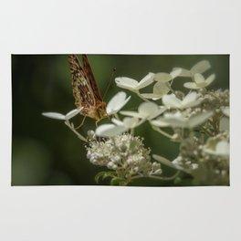 Butterfly on a Hydrangea Rug