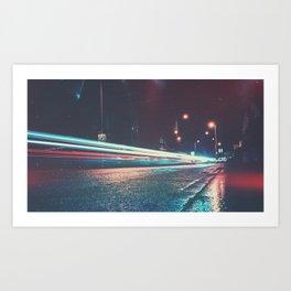 Trailing the A489 Art Print