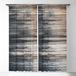 Weathered wood wall Blackout Curtain