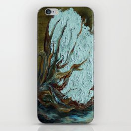 Cotton Boll on Wood iPhone Skin