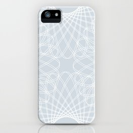 mathematical rotating roses - ice gray iPhone Case