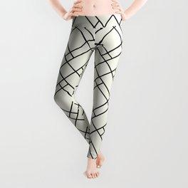 Simply Mod Diamond Black and Cream Leggings