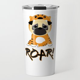 Pug Tiger Travel Mug