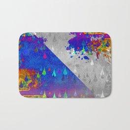 Abstract Colorful Rain Drops Design Bath Mat