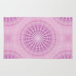 Pink Mandala Geometric Rug