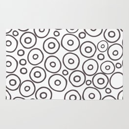 circles 2 - brown and white Rug