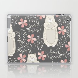 Bear and Flowers Laptop & iPad Skin