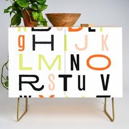 Eclectic Alphabet Credenza