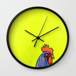 Neon Chicken Wall Clock