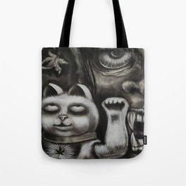 Maneki Neko in fall Tote Bag