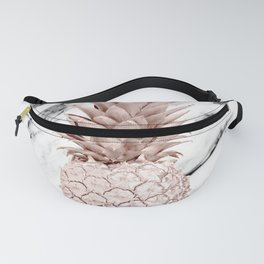 Pineapple Rose Gold Marble Fanny Pack