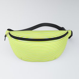 Banana and Lime Yellow and Green Stripes Fanny Pack