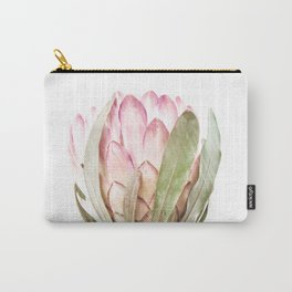 Pink Protea Flower Carry-All Pouch