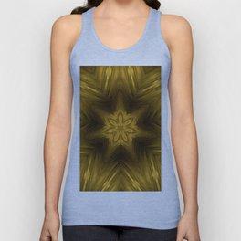 Golden Amber Metalic Abstract Star #Kaleidoscope Unisex Tank Top