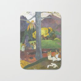 Mata Mua by Paul Gauguin Bath Mat