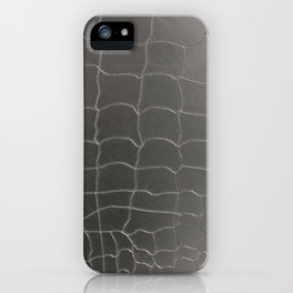Crocodile silver skin iPhone Case