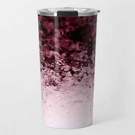 Burgundy CrYSTALS Ombre Gradient Travel Mug