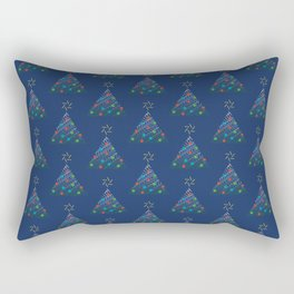 Christmas Trees Pattern Rectangular Pillow