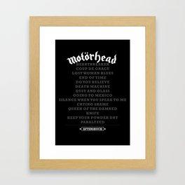 MOTORHEAD - AFTERSHOCK Framed Art Print
