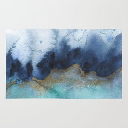 Mystic abstract watercolor Rug