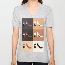 heel shoes-ıv Unisex V-Neck
