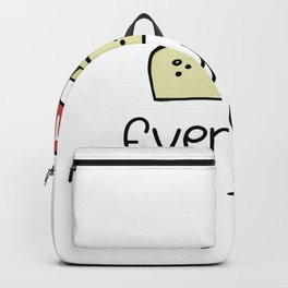 Everyday I'm Tofu Funny Vegan Gifts Backpack