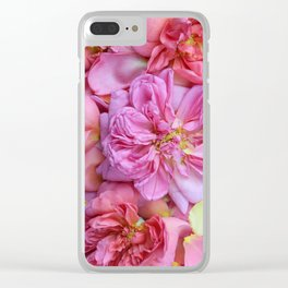 English Rose Petals Clear iPhone Case