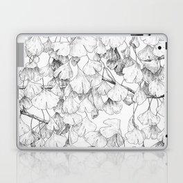 Ginkgo biloba - pattern in black Laptop & iPad Skin