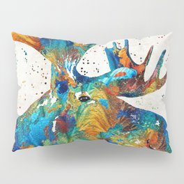 Colorful Moose Art - Confetti - By Sharon Cummings Pillow Sham