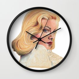 Blonde beauty Wall Clock