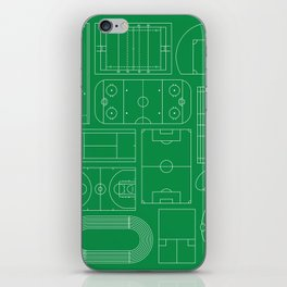 Sport Courts Pattern Art iPhone Skin